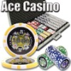 1000pc Ace Casino professional Texas customized poker chip set