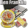 1000pc Ben Franklin professional Texas customized poker chip set