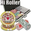 1000pc Hi Roller professional Texas customized poker chip set
