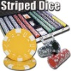 1000pc Striped Dice professional Texas customized poker chip set