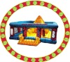 2011 exciting inflatable fun park with climbing wall
