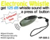 3 Tone Olive Shape Plastic Electronic Whistle for Safety