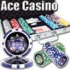 300pc Ace Casino professional Texas customized poker chip set