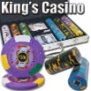300pc Kings Casino professional Texas customized poker chip set