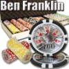 500pc Ben Franklin professional Texas customized poker chip set