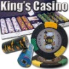 500pc Kings Casino professional Texas customized poker chip set