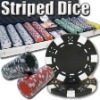 500pc Striped Dice professional Texas customized poker chip set