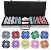 500pc casino professional Texas customized poker chip set with new design style
