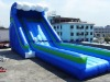 Blue world giant inflatable water slides