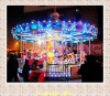 Comfortably outdoor merry go round rides for amusmenet park equipped gorgeous lighting