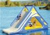 Funny water slide in the water park for kids to play