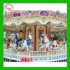 New design! Electric colorful outdoor carousel