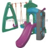 Plastic little horse slide for children's playground