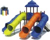Playground tube slides