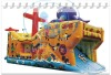 Qi Ling 2011hot pirate ship inflatable slide