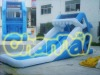 Shark inflatable water slide