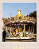 Shining theme park rides carousel equipped lighting and music