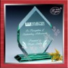 beautiful jade crystal award and trophy
