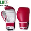 nice PU leather red and white competition boxing glove