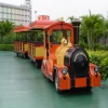 tourist diesel fun train for all the park and the entertainment palces