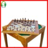 wooden garden  giant chess table board game