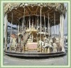 your professional silver double deck carousel